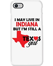 Texas Girl Lives in Indiana Phone Case thumbnail