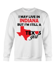 Texas Girl Lives in Indiana Crewneck Sweatshirt thumbnail