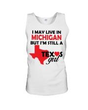 Texas Girl Lives in Michigan Unisex Tank thumbnail