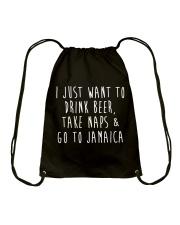 Drink Beer Take Naps Go to Jamaica Drawstring Bag thumbnail