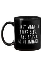 Drink Beer Take Naps Go to Jamaica Mug back