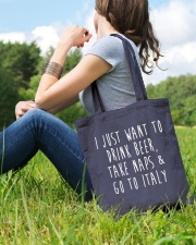Drink Beer Take Naps Go to Italy Tote Bag lifestyle-totebag-front-6