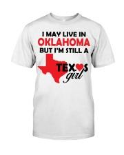Texas Girl Lives in Oklahoma Classic T-Shirt thumbnail