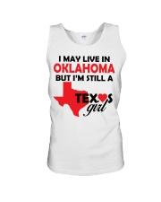 Texas Girl Lives in Oklahoma Unisex Tank thumbnail
