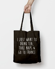 Drink Tea Take Naps Go to France Tote Bag lifestyle-totebag-front-2