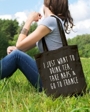 Drink Tea Take Naps Go to France Tote Bag lifestyle-totebag-front-6