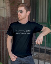 It's A Beautiful Day to go to New York Classic T-Shirt lifestyle-mens-crewneck-front-2