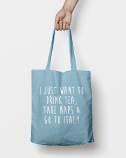 Drink Tea Take Naps Go to Italy Tote Bag lifestyle-totebag-front-2