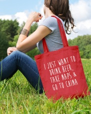 Drink Beer Take Naps Go to China Tote Bag lifestyle-totebag-front-6