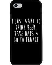 Drink Beer Take Naps Go to France Phone Case tile