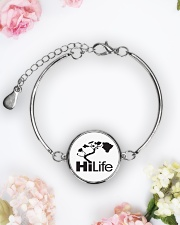 Hawaii Life - HiLife Metallic Circle Bracelet aos-bracelet-metal-front-lifestyle-6