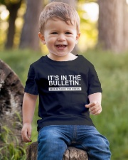 It's in the bulletin been in there for weeks Youth T-Shirt lifestyle-youth-tshirt-front-4