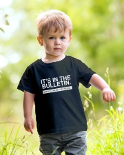 It's in the bulletin been in there for weeks Youth T-Shirt lifestyle-youth-tshirt-front-5