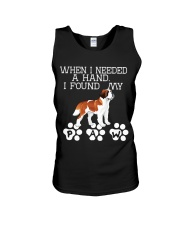 St Bernard gives paw when I need hand Unisex Tank thumbnail