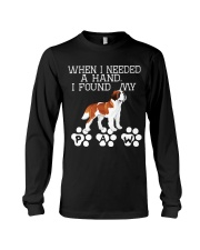 St Bernard gives paw when I need hand Long Sleeve Tee tile