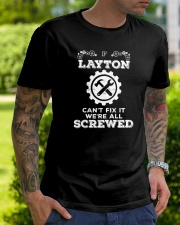 Everybody needs awesome Layton Classic T-Shirt lifestyle-mens-crewneck-front-7
