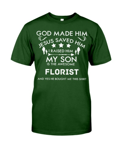 Awesome Florist son-Father day
