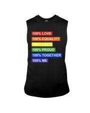 100 love 100 equality 100 loud Sleeveless Tee thumbnail