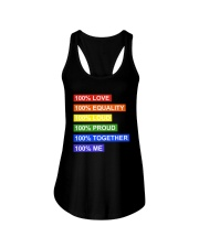 100 love 100 equality 100 loud Ladies Flowy Tank thumbnail