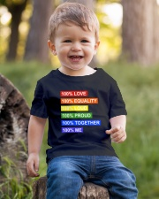 100 love 100 equality 100 loud Youth T-Shirt lifestyle-youth-tshirt-front-4