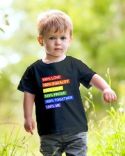 100 love 100 equality 100 loud Youth T-Shirt lifestyle-youth-tshirt-front-5