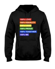 100 love 100 equality 100 loud Hooded Sweatshirt thumbnail
