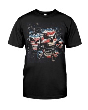 Biker Skull T Shirt - Teechip Classic T-Shirt thumbnail
