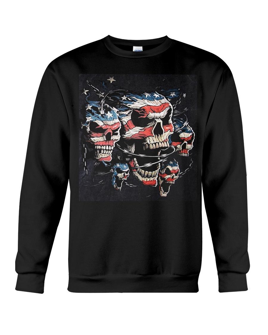 Biker Skull T Shirt - Teechip Crewneck Sweatshirt