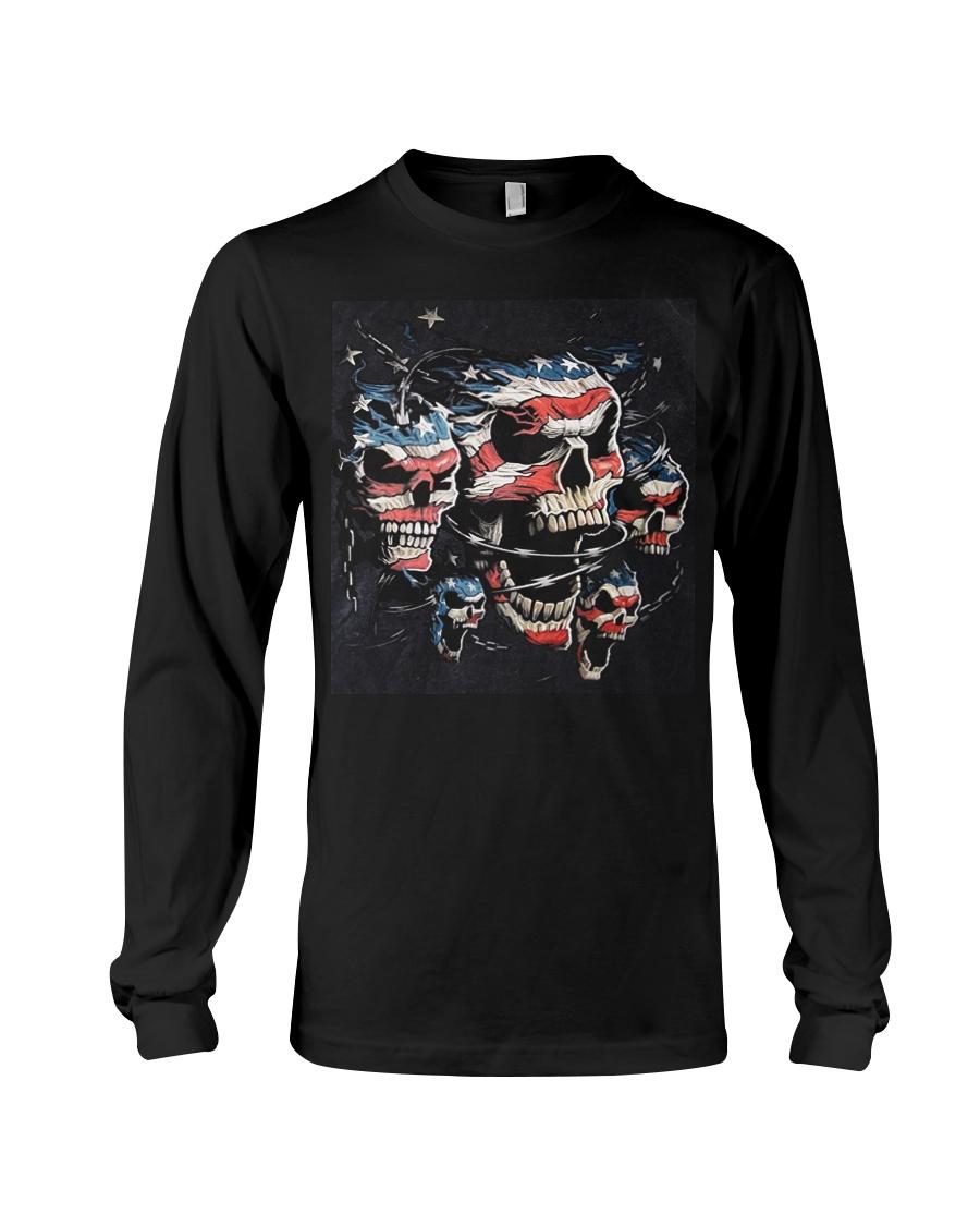 Biker Skull T Shirt - Teechip Long Sleeve Tee