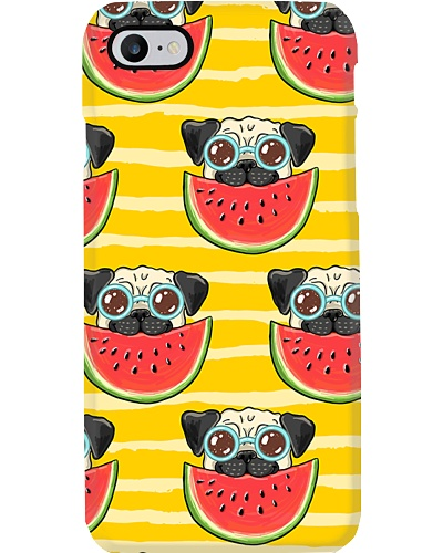 Hot Summer - Dog with Watermelon Fruit Case