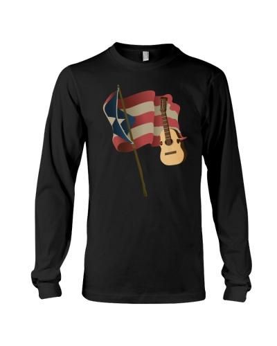 Puerto Rico Guitar Flag