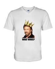 Chuck will help V-Neck T-Shirt thumbnail