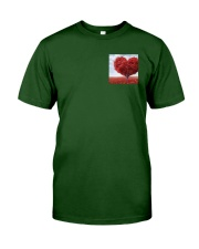 Red Heart Tree Classic T-Shirt front