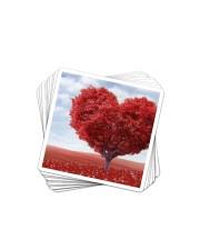 Red Heart Tree Sticker - 10 pack (Horizontal) thumbnail