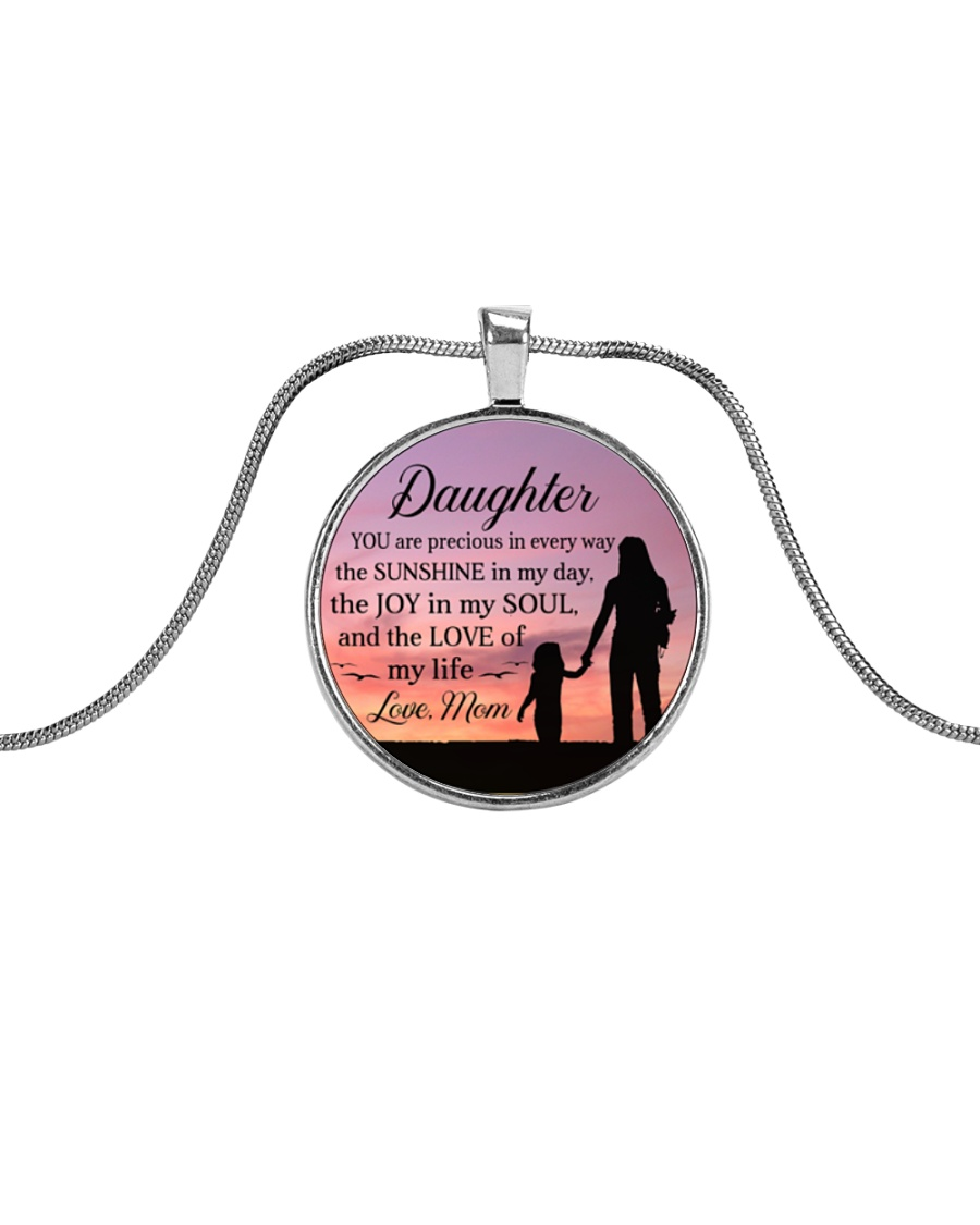 YOU'RE PRECIOUS IN EVERY WAY THESUNSHINE IN MY DAY Metallic Circle Necklace