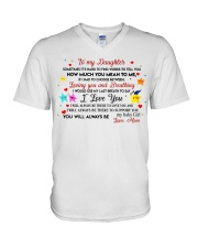 TO MY DAUGHTER SOMETIMES IT'S HARD TO FIND WORDS  V-Neck T-Shirt thumbnail