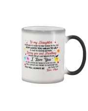 TO MY DAUGHTER SOMETIMES IT'S HARD TO FIND WORDS  Color Changing Mug thumbnail