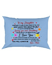TO MY DAUGHTER SOMETIMES IT'S HARD TO FIND WORDS  Rectangular Pillowcase front