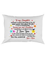TO MY DAUGHTER SOMETIMES IT'S HARD TO FIND WORDS  Rectangular Pillowcase thumbnail