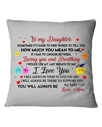 TO MY DAUGHTER SOMETIMES IT'S HARD TO FIND WORDS