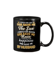 I ASKED FOR HAPPINESS GOD GAVE ME MY HUSBAND Mug thumbnail