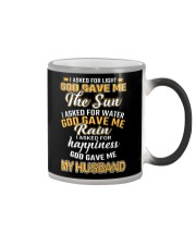 I ASKED FOR HAPPINESS GOD GAVE ME MY HUSBAND Color Changing Mug thumbnail