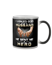 I ASKED GOD FOR A HUSBAND HE SENT ME A HERO Color Changing Mug thumbnail