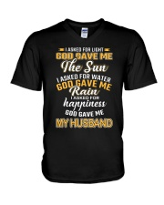I ASKED FOR LIGHT GOD GAVE ME THE SUN V-Neck T-Shirt thumbnail