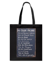 IN OUR HOME WE DO FAMILY Tote Bag thumbnail