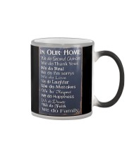 IN OUR HOME WE DO FAMILY Color Changing Mug tile