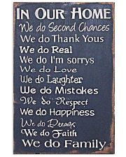 IN OUR HOME WE DO FAMILY Vertical Poster tile