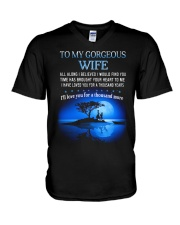 TO MY WIFE ALL ALONG I BELIEVED I WOULD FIND YOU  V-Neck T-Shirt thumbnail