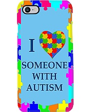 I LOVE SOMEONE WITH AUTISM Phone Case i-phone-7-case