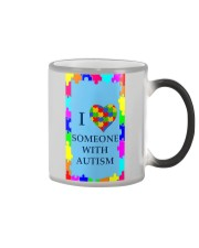 I LOVE SOMEONE WITH AUTISM Color Changing Mug thumbnail